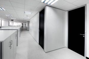 Mamparas de oficina de doble vidrio o panel - Zeta Line
