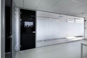 Mamparas divisorias para oficinas en Madrid - Sistema Twin Glass - Zeta Line